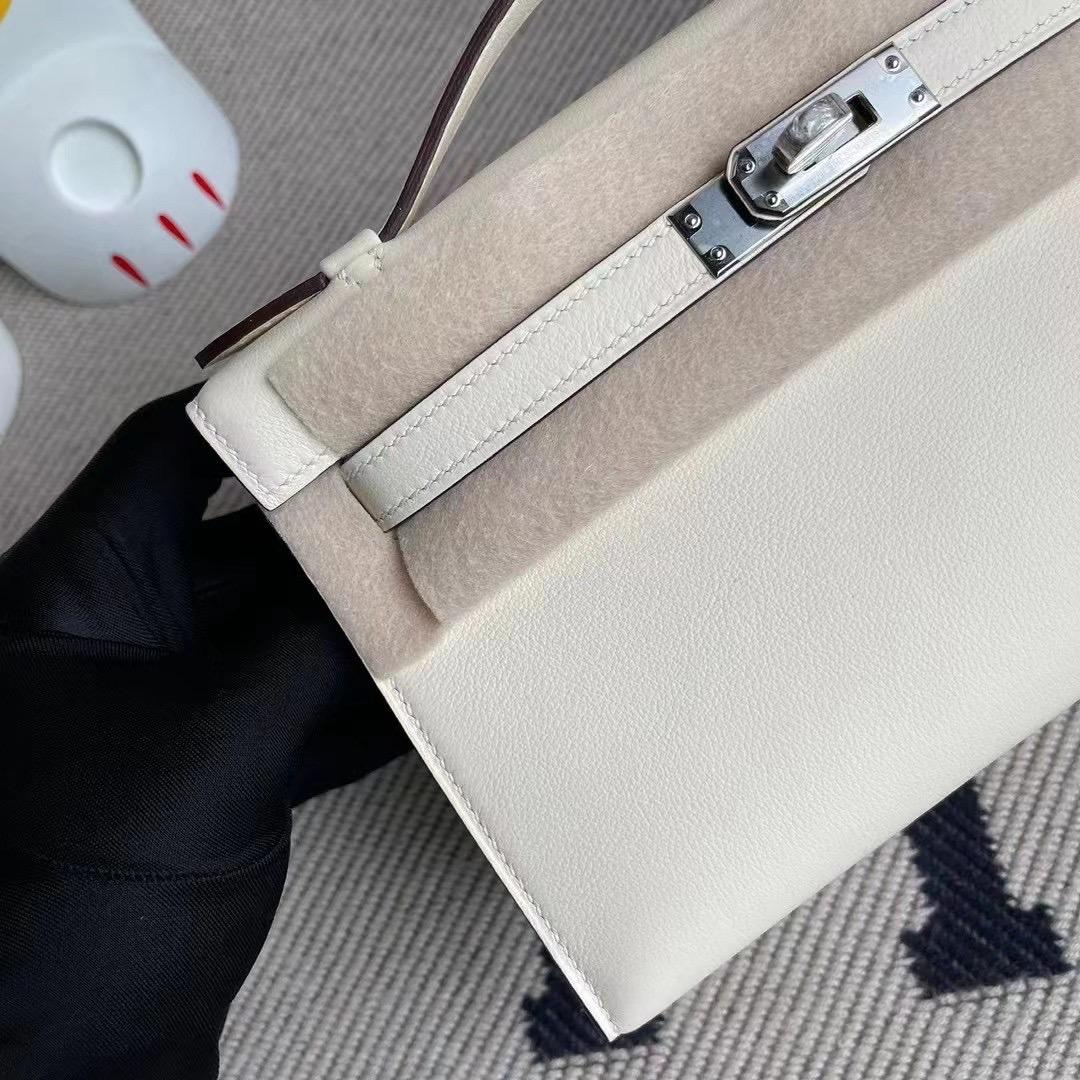 Qatar Doha Hermes MiniKelly Pochette Swift calfskin i2 Nata 奶油白