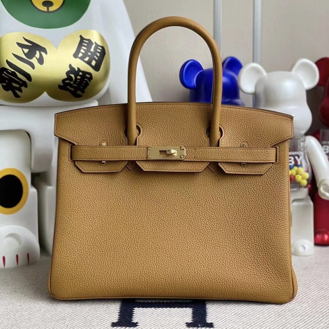 Singapore Hermes Birkin 30 Togo 2S sesame 芝麻色 金扣 手工蜜蠟線縫製