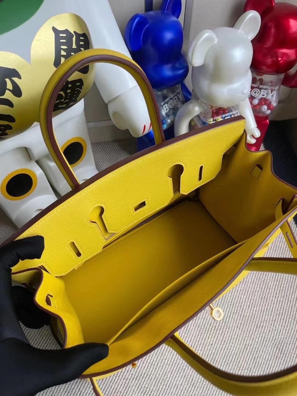 Malaysia Hermes Birkin 30cm Evercolor 9O jaune de naples 那不勒斯黃 金扣