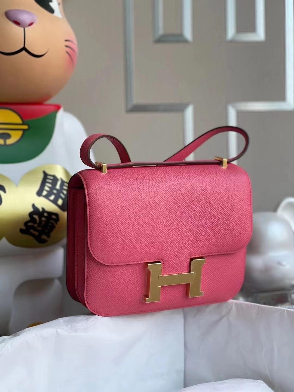 Taiwan Hermes Constance 19 Epsom 8W Rose Azalée 新唇膏粉 原廠禦用皮