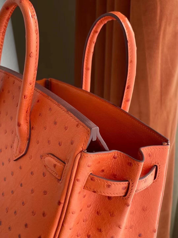 Saudi Arabia Hermes Birkin 25cm 93 Orange 橙色南非KK鴕鳥皮金扣