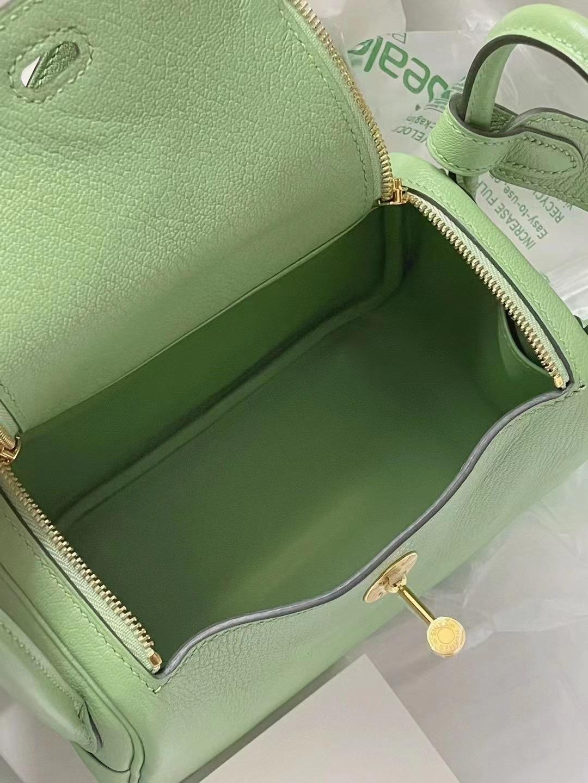 Malaysia Hermes Mini Lindy Chevre 山羊皮 3I Vert Criquet 牛油果綠 金扣