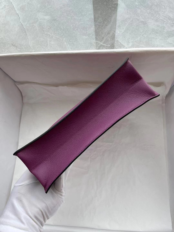 Macao Hermes Kelly danse 22cm Evercolor P9 Anemone 海葵紫 金扣