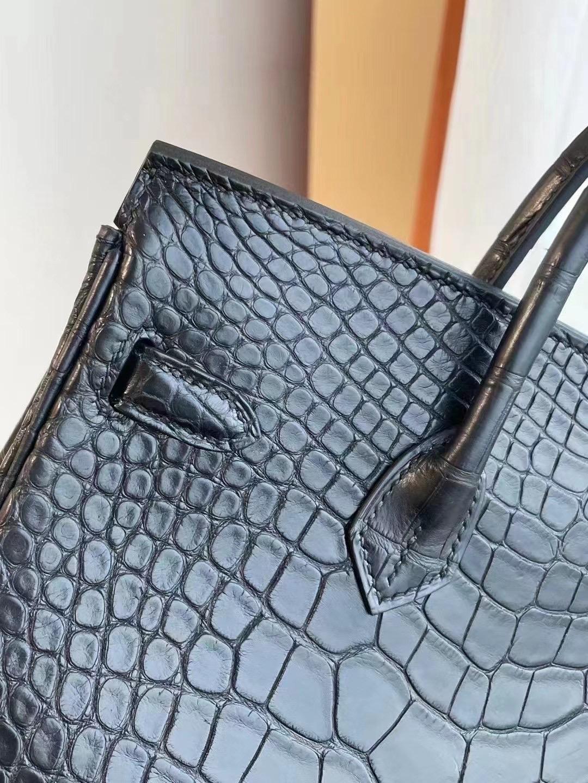 澳門 Macao Hermes Birkin 25cm 89 Noir 黑色霧面美洲鱷魚金扣