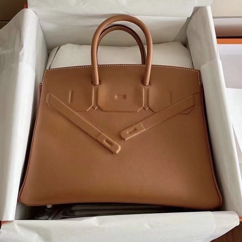 愛馬仕幻影birkin價格 Hermes Birkin 25cm Shadow Swift 37 Gold 金棕色