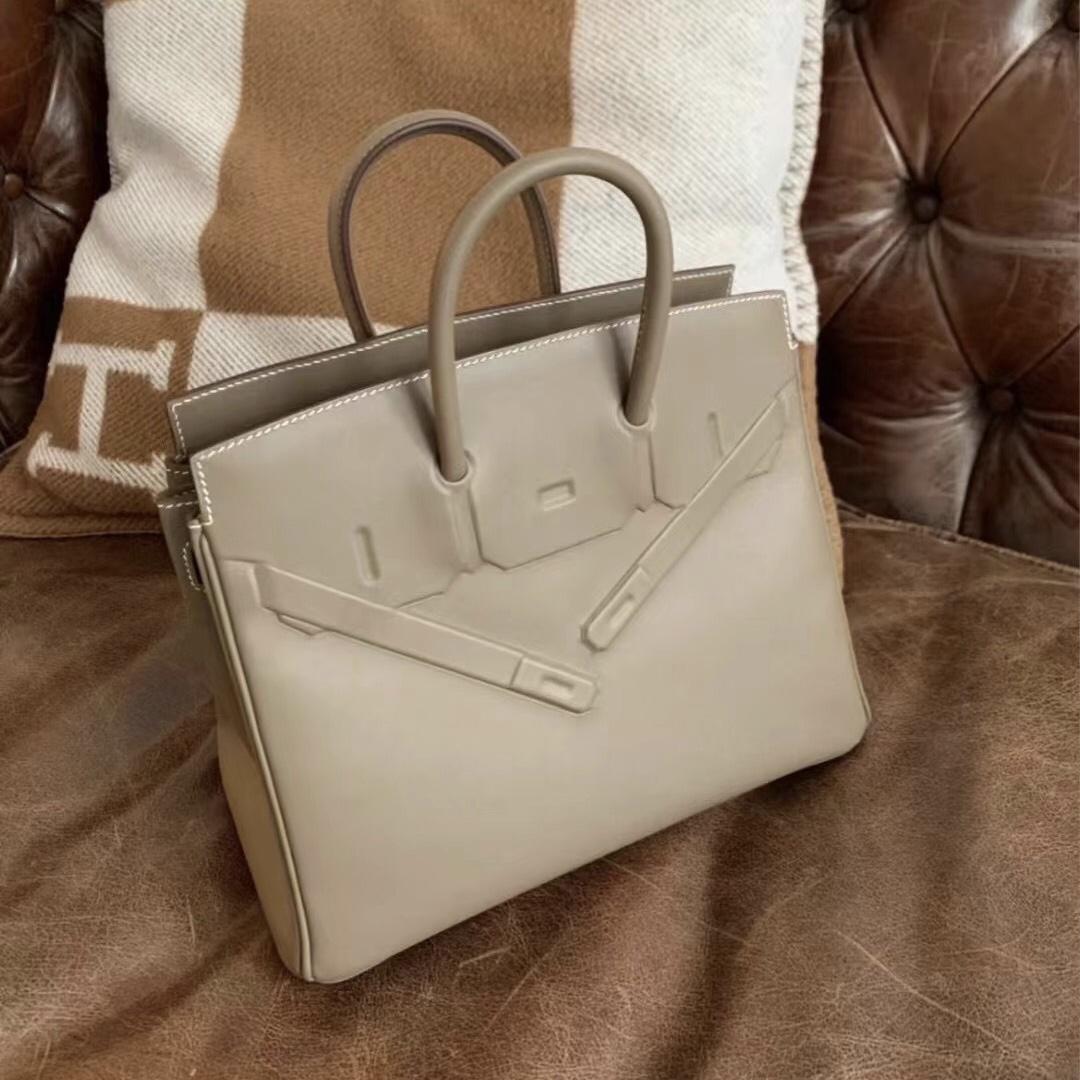 愛馬仕幻影birkin價格 Saudi Arabia Hermes Birkin 25 Shadow Swift 18 Etoupe 大象灰