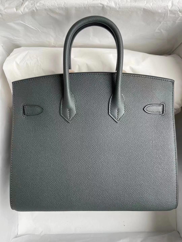 Hong Kong Hermes Birkin 25cm 外縫 Epsom C6 Vert De Gris 灰綠色 金扣