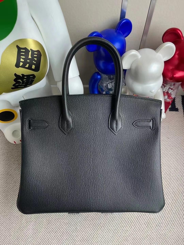 Taiwan Hermes Birkin 30 Chevre 山羊皮 89 Noir 內拼L3 Rose Poupre 磨砂金扣
