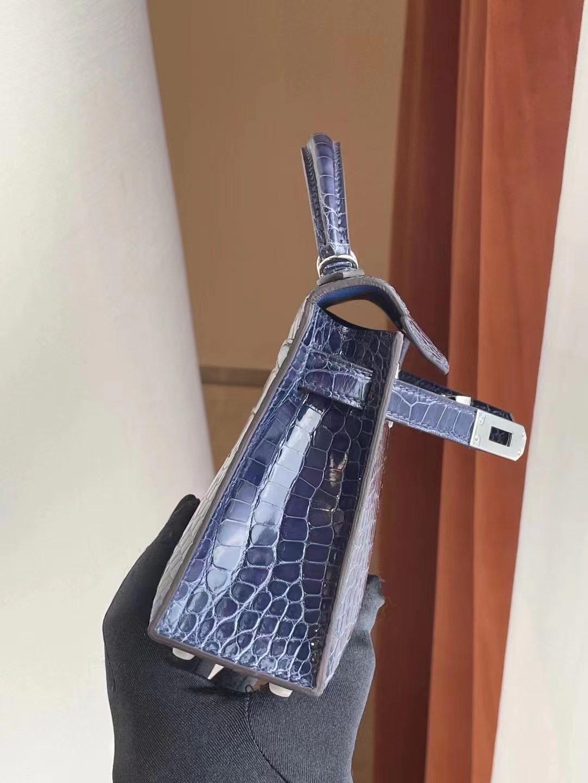 Hong Kong Hermes Mini Kelly Pochette 18 Etoupe 大象灰霧面美洲鱷魚