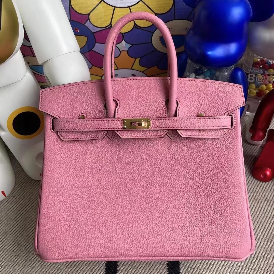 Hong Kong Hermes Birkin 25cm Togo 5P pink 櫻花粉 金扣