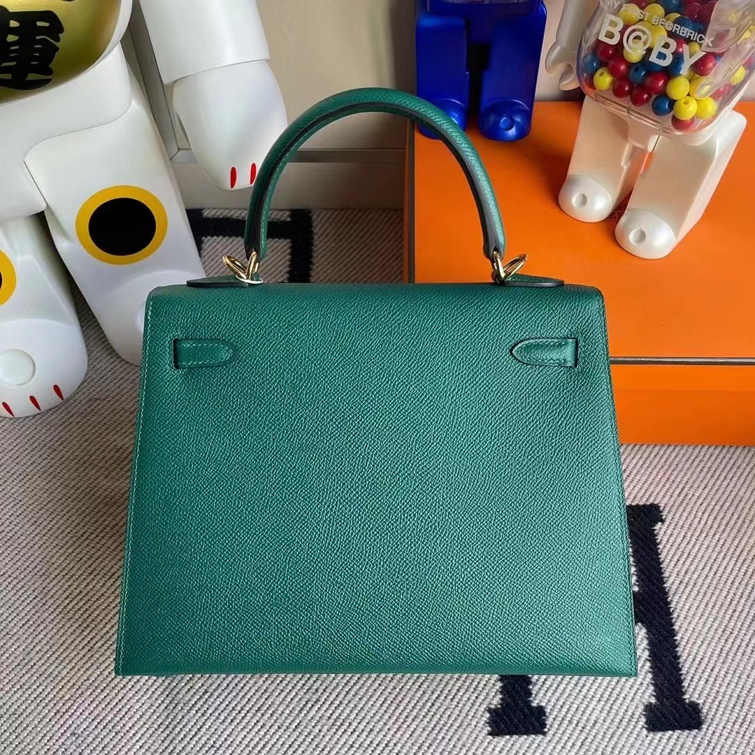Macao Hermes Kelly 25cm Z6 Malachite 孔雀綠 9D 琥珀黃 U1 維羅納綠