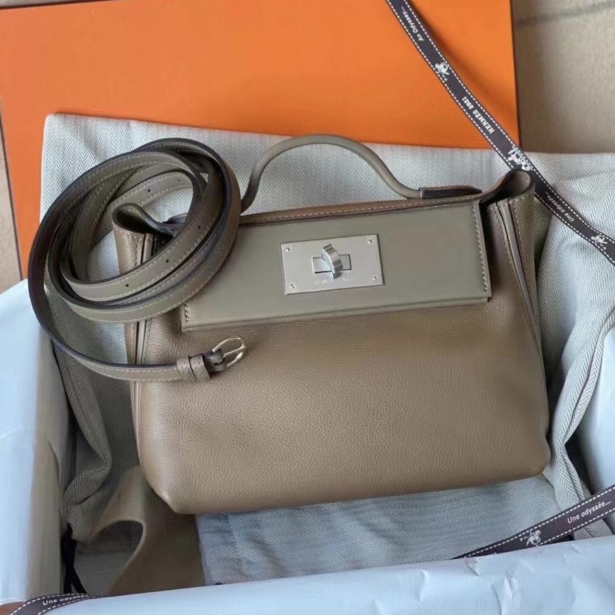 Hermes Kelly Mini 24/24 21cm Evercolor CK18 Etoupe 大象灰