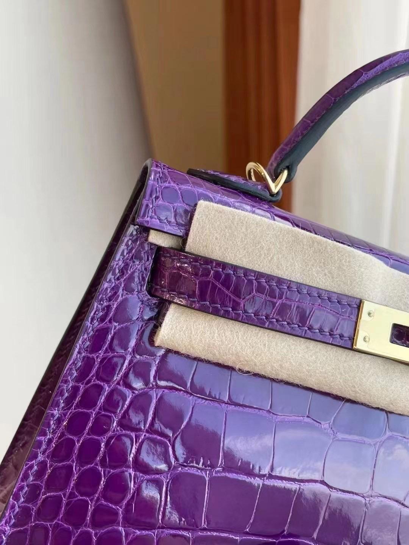 Hong Kong Hermes Kelly Mini II 2代 9G Amethyste 水晶紫 美洲鱷魚