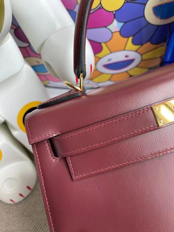 愛馬仕凱莉包28寸價格 Hermes Kelly 28cm BOX CK55 Rouge H 愛馬仕紅 金扣