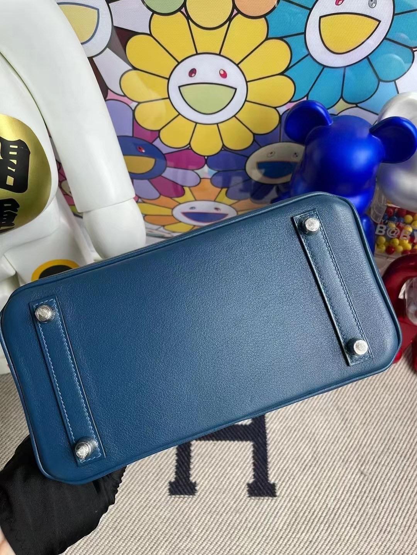 香港南區深水灣 愛馬仕鉑金包 Hermes Birkin 25 Swift S4 Deep Blue 深邃藍