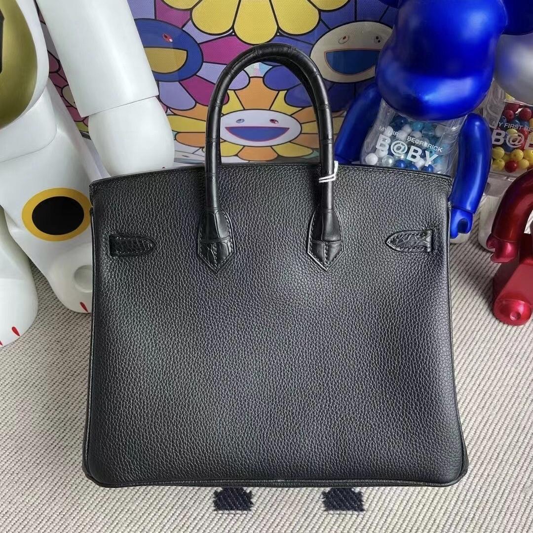 Hong Kong Hermes Birkin 25cm Touch 霧面美洲鱷 Togo 89 Noir 黑色 金扣