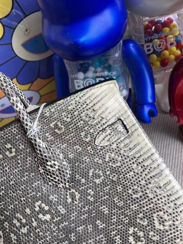 愛馬仕喜馬拉雅蜥蜴皮鉑金包 Hermes Birkin 25cm Lizard 01自然色蜥蜴 銀扣