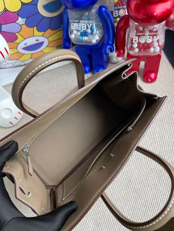 Australia Hermes Birkin Shadow 25 幻影 CK18 Etoupe 大象灰 Swift leather