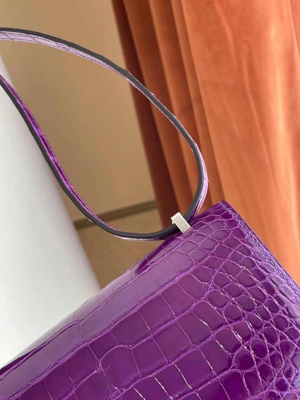 Saudi Arabia Hermes Constance Mini crocodile CK9G Amethyste 紫水晶