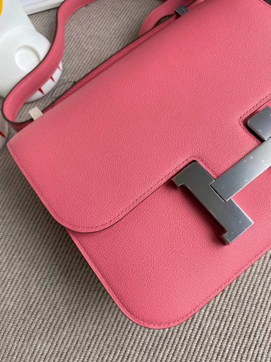 Canada Hermes Constance 19 Everycolor 8W Rose Azalee 新唇膏粉 銀扣