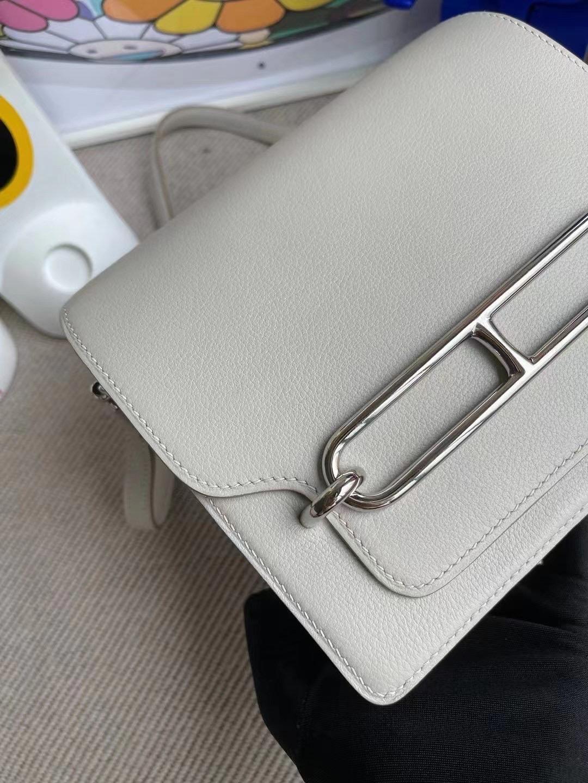 Abu Dhabi UAE Hermes Roulis Mini Evercolor 80 Gris Perle 珍珠灰