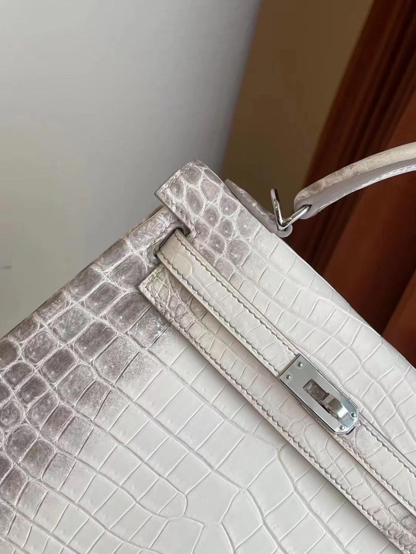 United Arab Emirates Hermes kelly 25 CK01 blanc Crocodile Niloticus Himalaya