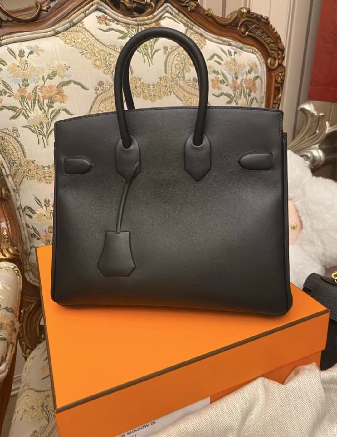 Australia Hermes Birkin Shadow 25cm 幻影 89 Noir 黑色 Swift leather