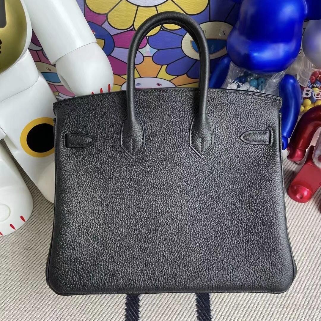 Britain Hermes Birkin 25cm CC89 Noir 黑色 Togo 皮 全手工蜜蠟線縫製