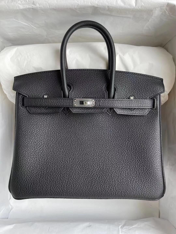Qatar Doha Hermes Birkin 25 CC89 Noir 黑色 Togo 皮 全手工蜜蠟線縫製