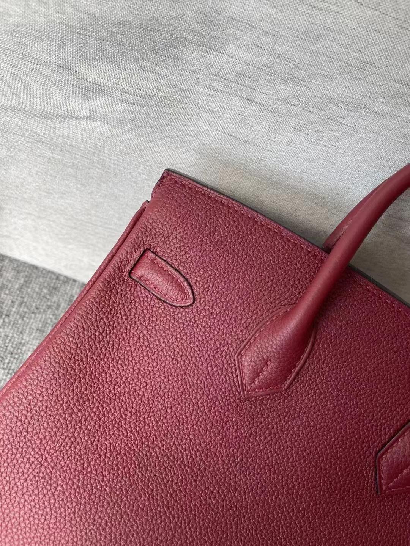 Australia Hermes Birkin 25cm 55 Rouge H 愛馬仕紅 Togo  銀扣