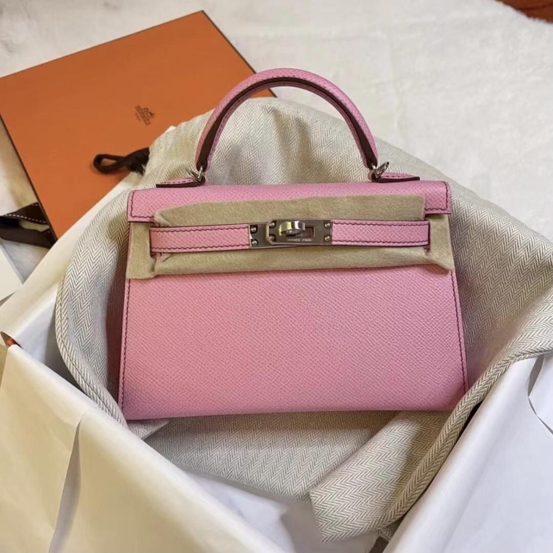 United Arab Emirates Dhabi Hermes Kelly Mini II 2代 Epsom 5P pink 櫻花粉