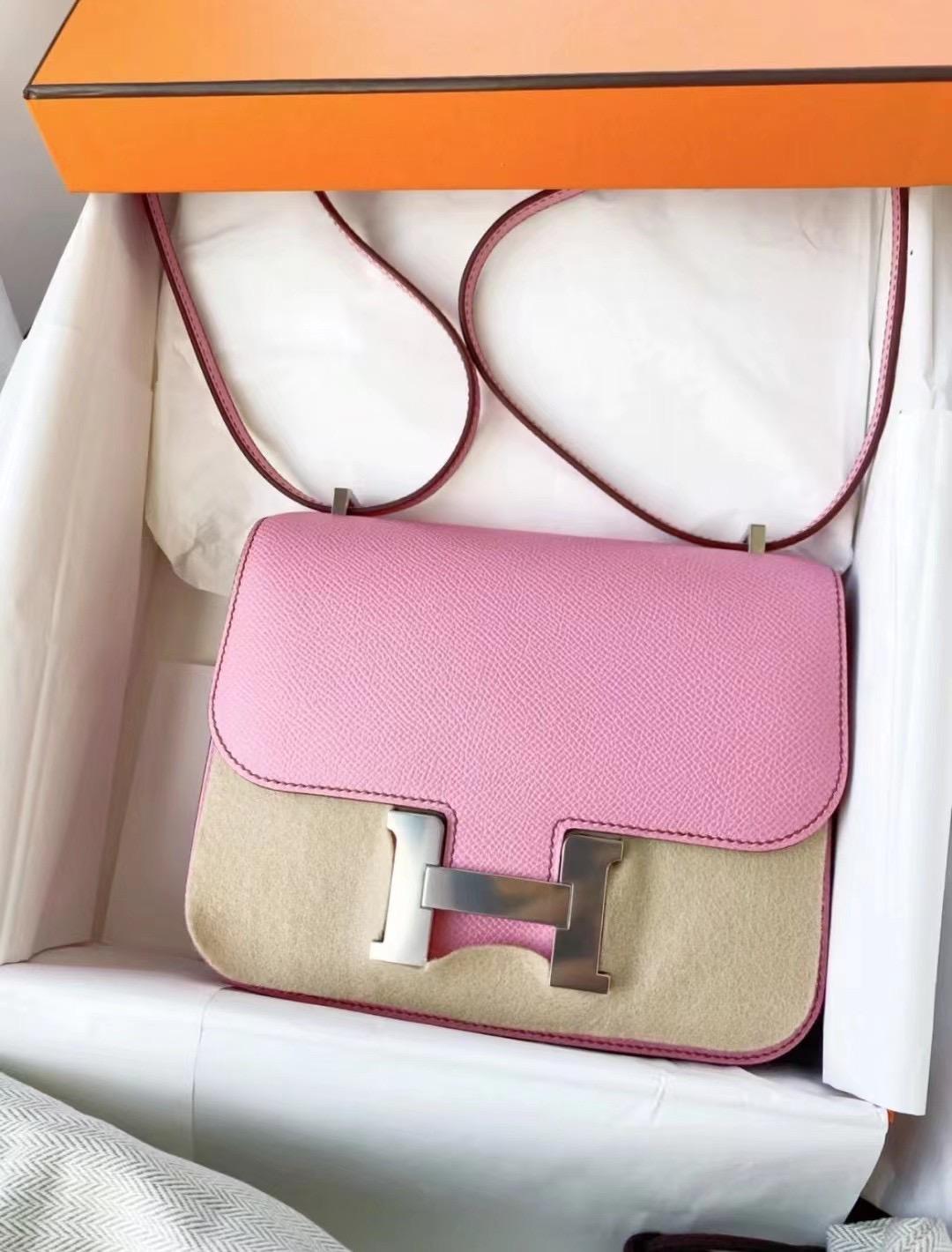 Kuwait Hermes Constance Mini 19 Epsom 5P pink 櫻花粉 接受訂製