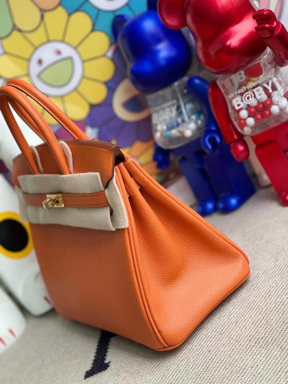 愛馬仕鉑金包 Saudi Arabia Hermes Birkin 25 Epsom 93 Orange 橙色