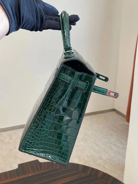United Arab Emirates Hermes Kelly 25cm 67 Vert Fonce 祖母綠 alligator crocodile