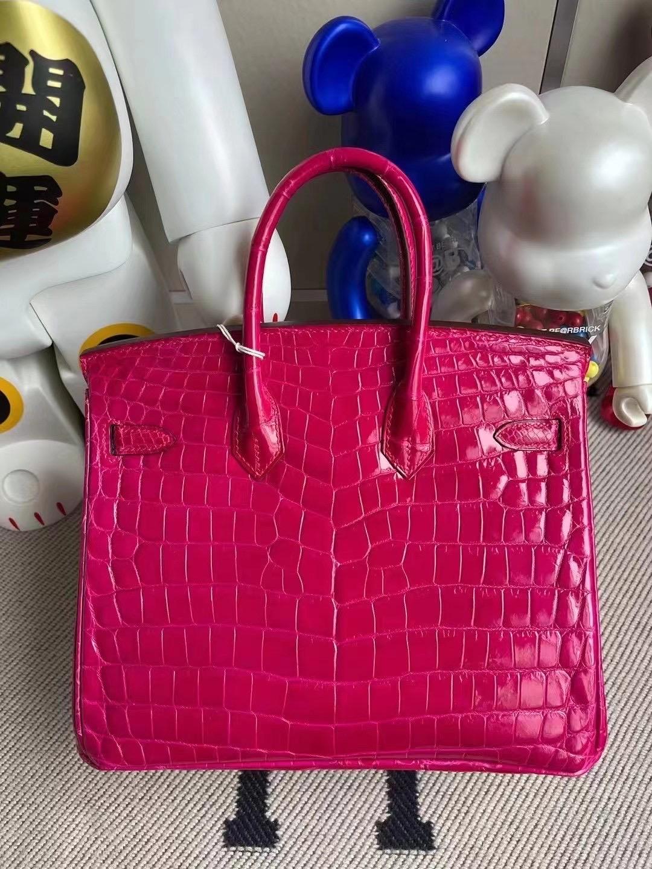 Qatar Doha Hermes Birkin 25cm E5 Rose Tyrien 桃紅色 亮面兩點 尼羅鱷魚
