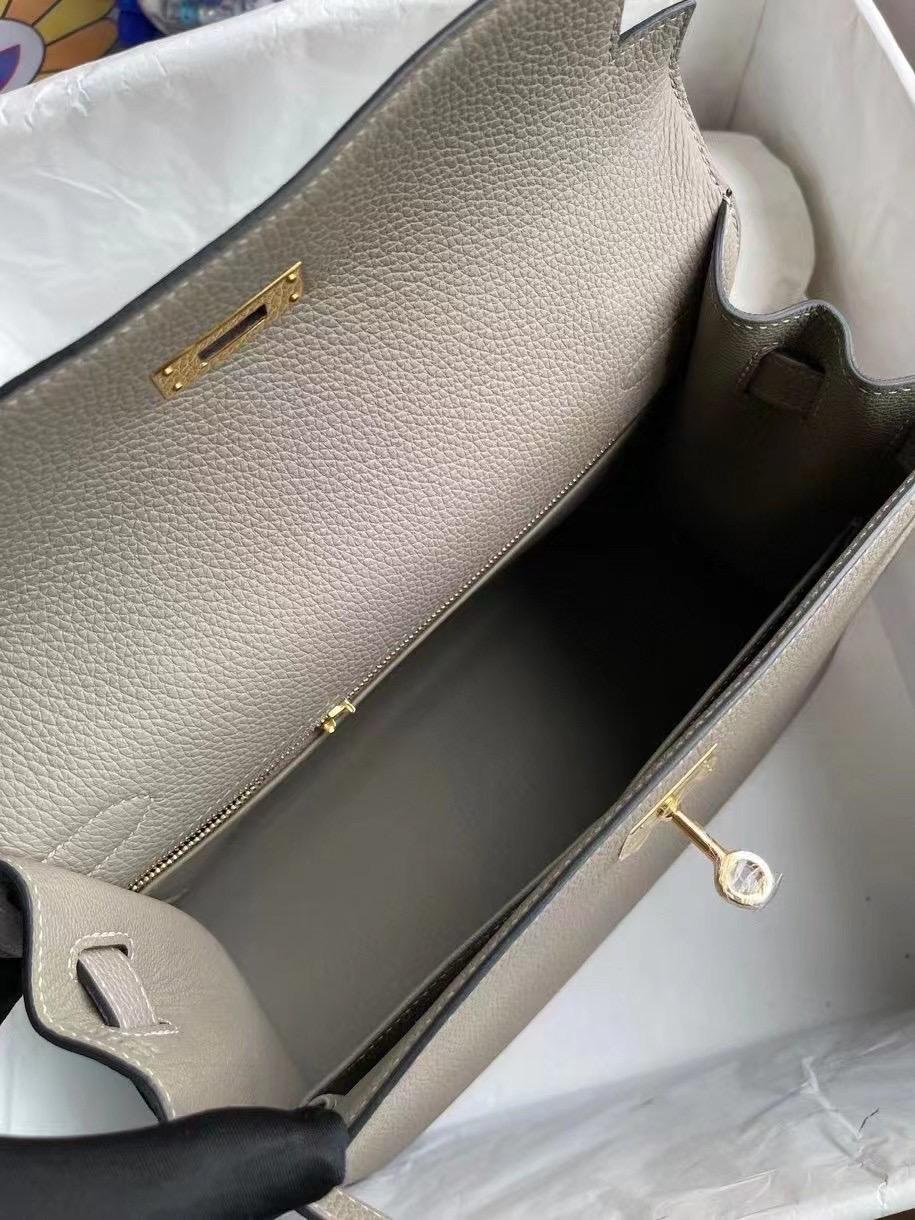 Boston USA Hermes Kelly 28cm Togo M8 瀝青灰 gris ashpite 金扣