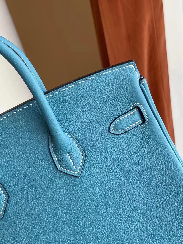 USA Hermes Birkin 25cm Togo 禦用原廠小牛皮 75 牛仔藍 Blue Jean 銀扣