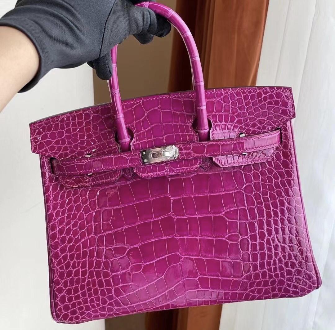 Saudi Arabia Riyadh Hermes Birkin 25 J5 天方夜譚粉紫 Rose Sheheraradez 美洲鱷魚