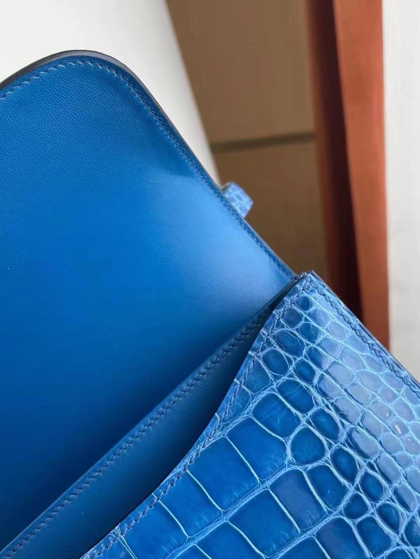 Saudi Arabia Riyadh Hermes Constance 19 7Q 希臘藍 Blue Mykonos 美洲鱷魚