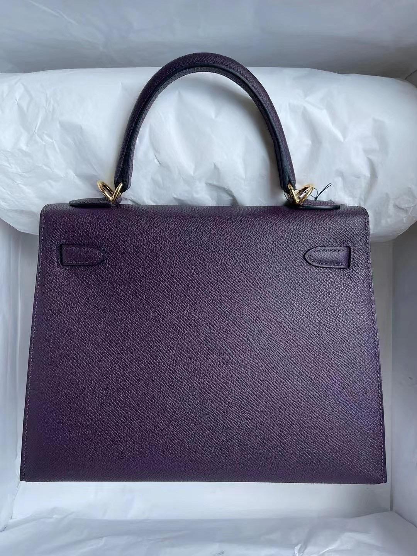 Saudi Arabia Riyadh Hermes Kelly 25cm Epsom 59 Raisin 葡萄紫 金扣