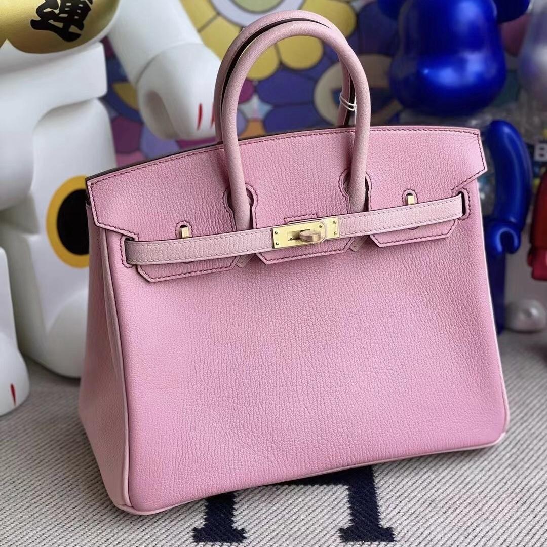 Saudi Arabia Riyadh Hermes Birkin 25 Chevre 5P Pink 3Q Rose Sakura 磨砂金扣