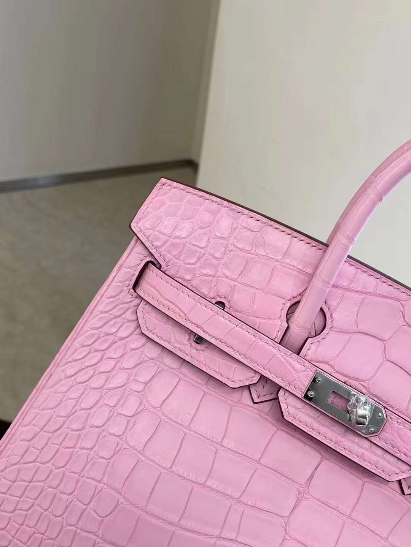 United Arab Emirates Abu Dhabi Hermes Birkin 25 Crocodile 5P Pink 櫻花粉