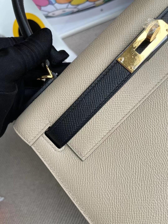 United Arab Emirates Dubai Hermes Kelly 28 Hss Epsom S2 Trench 89 Noir GHW